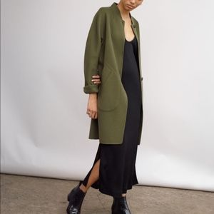 Rag & Bone Darwen Wool Cashmere Army Green Coat